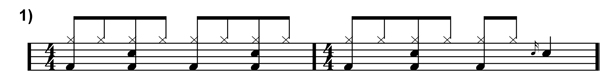 Quarter Note Beat and Fill